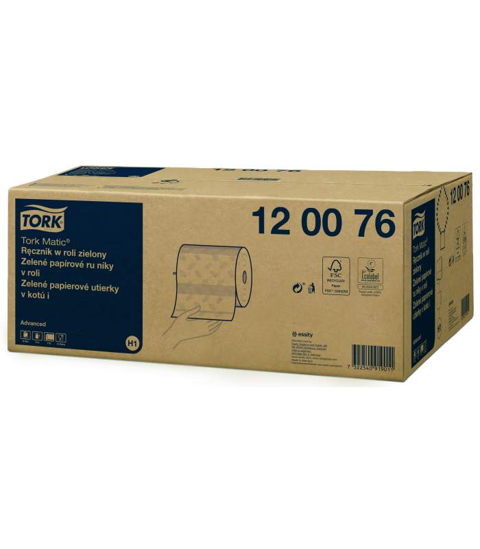 Tork Matic® Advanced papierové utierky v kotúči zelené (H1)