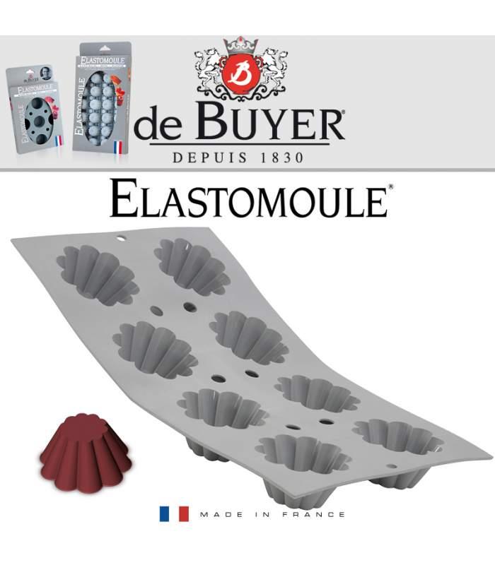 Profesionálne silikónové formy Elastomoule® de Buyer- 8 foriem Mini-Brioches