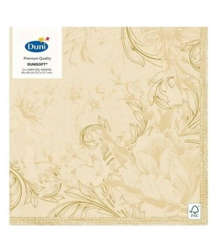 Luxusné obrúsky Dunilin - Charm cream 40x40cm 12ks/balíček