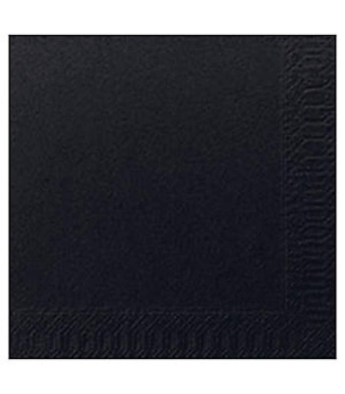 Servítky koktejlové, 24 x 24 cm, Čierne