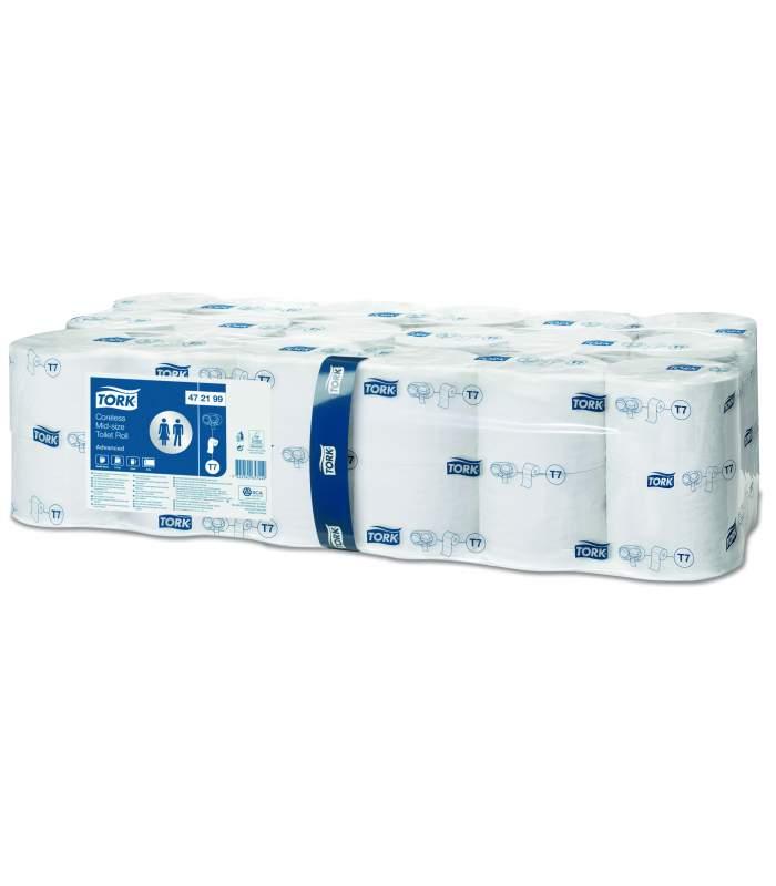 Tork Mid-Size Advanced - toaletný papier bez dutiniek (T7)