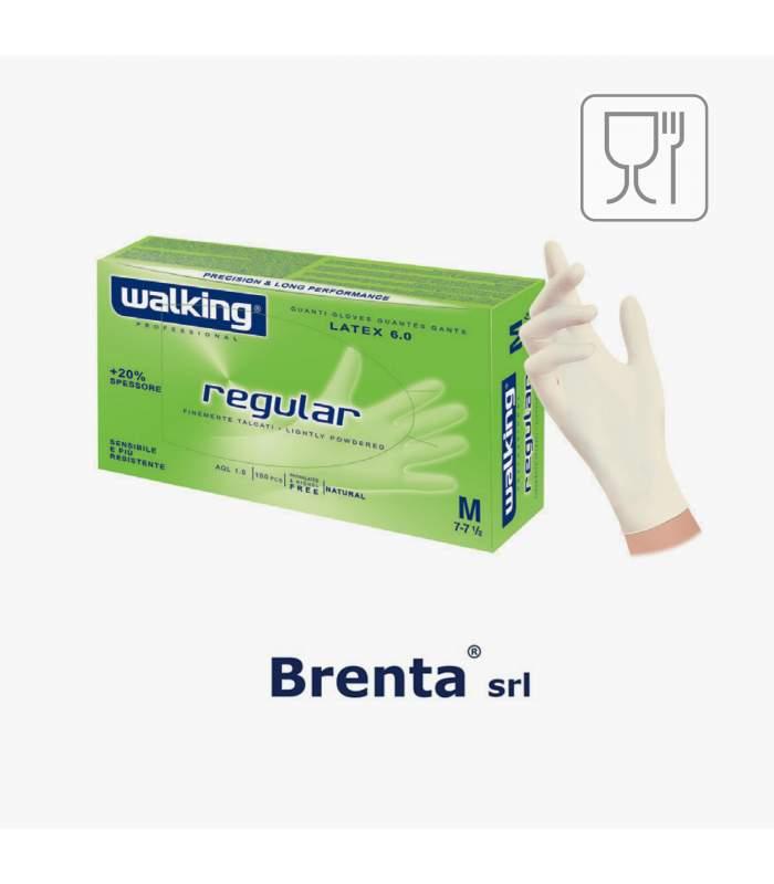 Regular- latexové rukavice púdrované walking