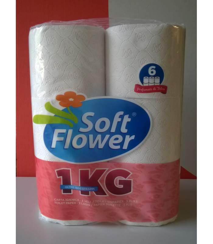 Soft Flower 1kg - jemne parfumovaný toaletný papier 3. vrstvový