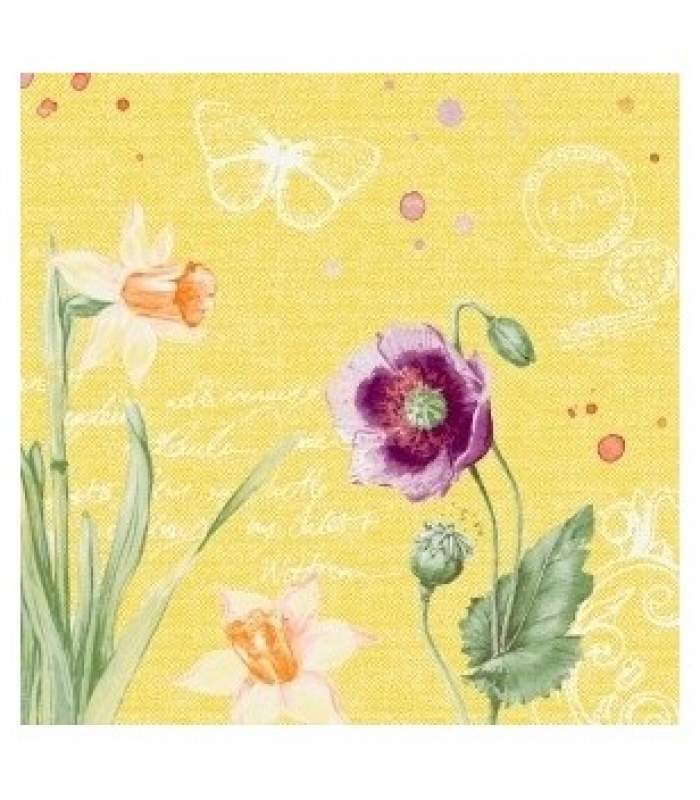 Servítky DuniSoft Spring lilies - 40x40 cm (60 ks)