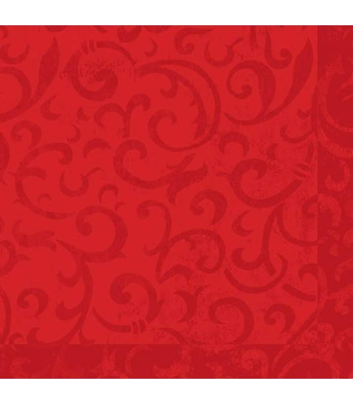 Luxusné obrúsky 40x40cm - Sarala červená 50ks/bal.