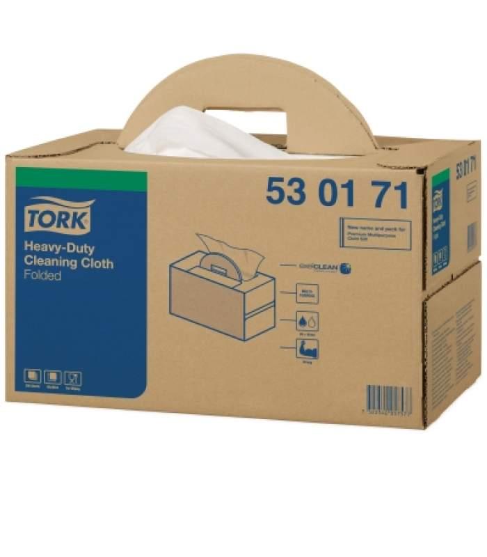 Čistiaca utierka z netkanej textilie biela skladaná 200 ks (Handy Box)
